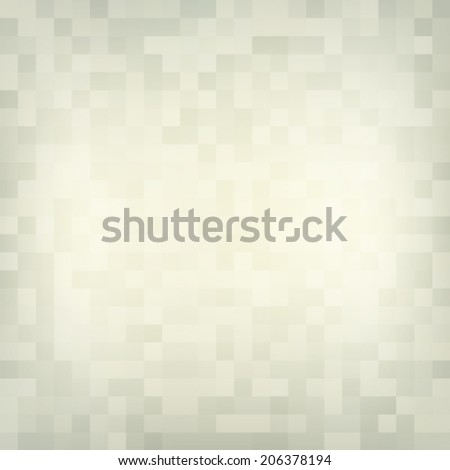 Abstract beige vintage background with mosaic. Vector - stock vector