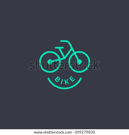 Abstract bicycle logo template. Bike Shop Corporate branding identity - stock vector
