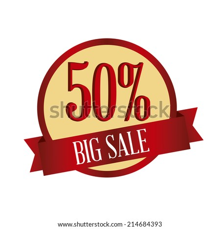 abstract big sale label on a white background