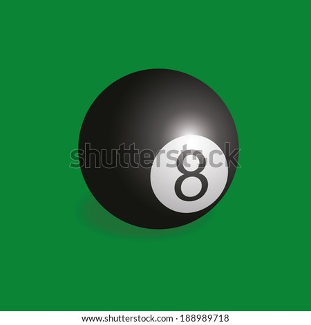 abstract billiars ball on a green background
