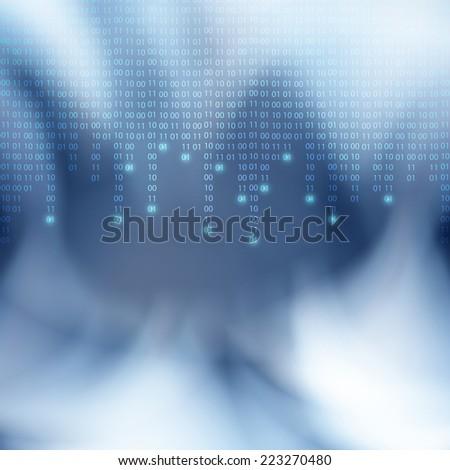 Abstract binary code background. Matrix style. EPS10 vector. - stock vector