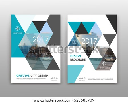 brochure front cover design - abstract binder art white a4 brochure stock vector