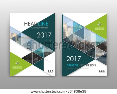 brochure front cover design - triangle design stock photos royalty free images