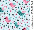 abstract bird seamless pattern  - stock vector