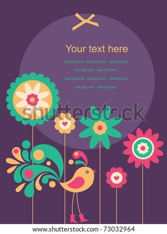 abstract bird. vector illustration - stock vector