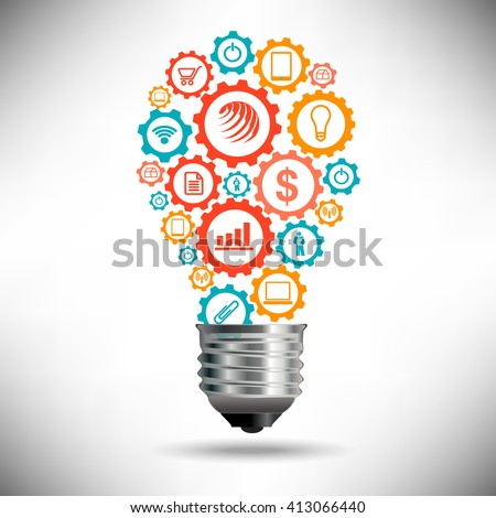 Abstract Birth of an Idea Concept for Print or Web - stock vector