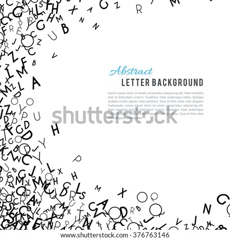 abstract black alphabet ornament frame isolated stock vector