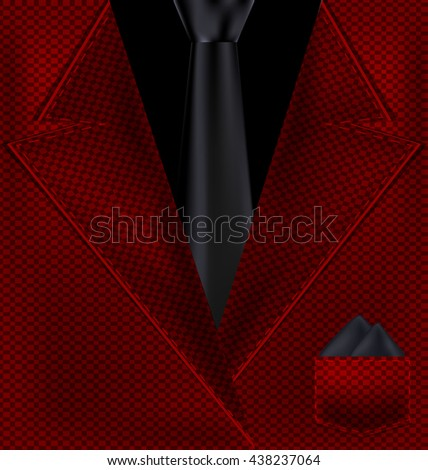 abstract black and red suit - stock vector