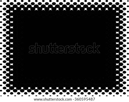 Abstract black and white background, halftone pattern texture, square banner