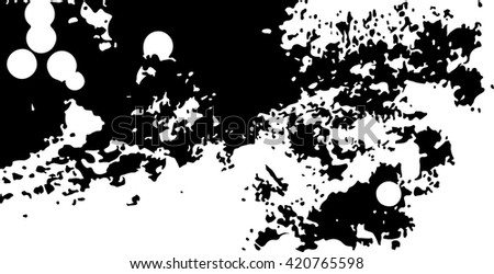 Abstract black and white background texture with white circles