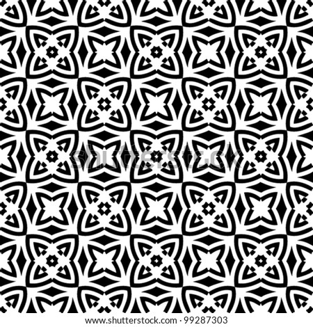 Abstract black and white decorative pattern background vector illustration
