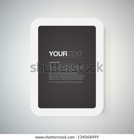 Abstract Black White Digital Frame Display Stock Vector 134068499 ...