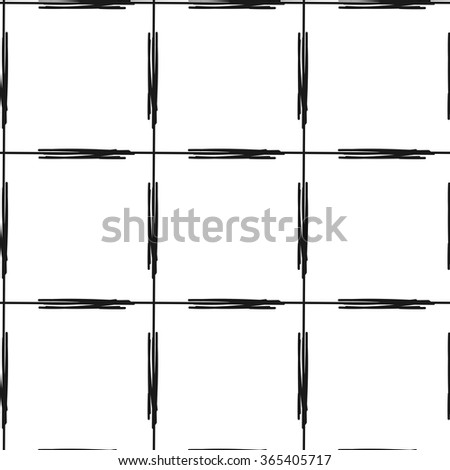 abstract black and white line seamless vector pattern background illustration