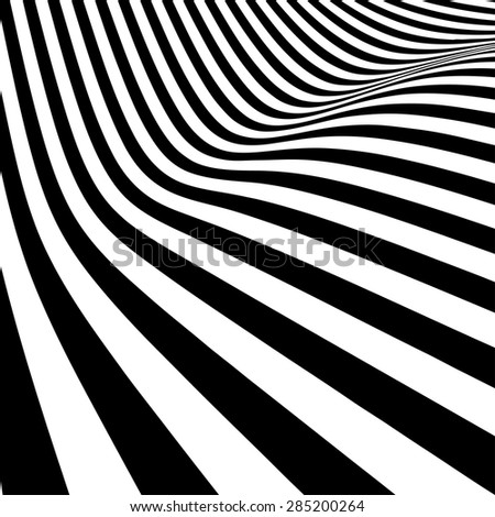 Abstract black and white lines vector background - stock vector