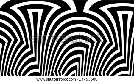 Abstract black-and-white pattern - vector illustration - stock vector