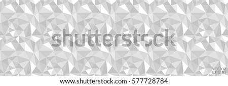 Abstract Black and White Pattern with Triangles. Structural Polygonal Texture. Vector Illustration