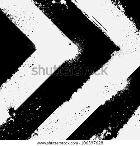 Abstract black and white road background - stock vector