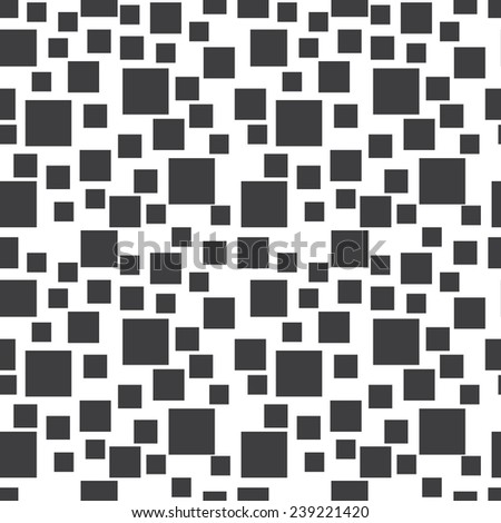 Abstract black and white seamless vector rectangles background