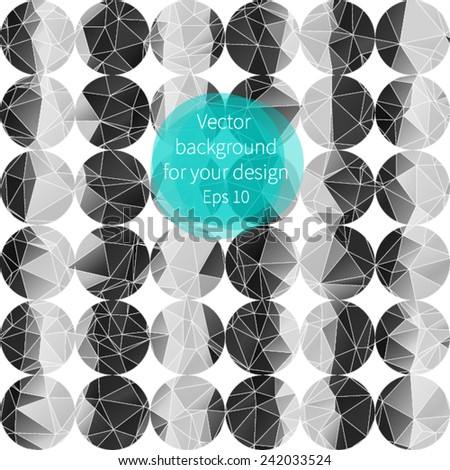 Abstract black and white triangle background for your design. - stock vector