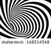 Abstract black and white tunnel. Vector background - stock vector