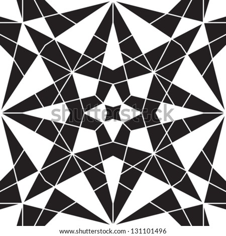Abstract black and white vector geometric seamless pattern