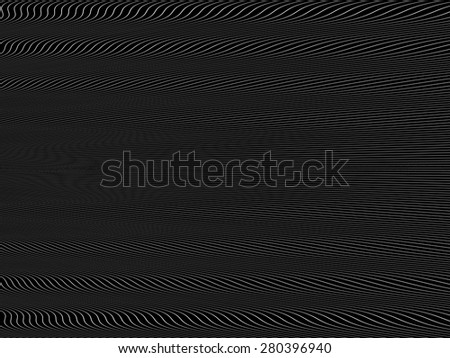 abstract black and white wireframe distortions, vector rhythmic composition  - stock vector