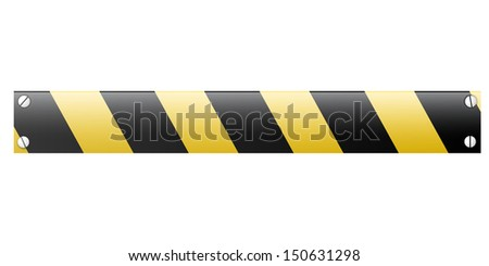 Abstract black and yellow restrictive barrier