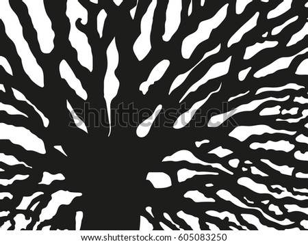 Abstract Black Art Painting In Simple Style Isolated On White Background Created For Mobile