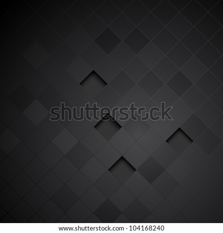 Abstract black background. Clip-art - stock vector