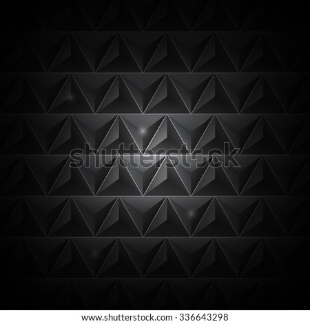 Abstract black background. Vector Illustration - stock vector