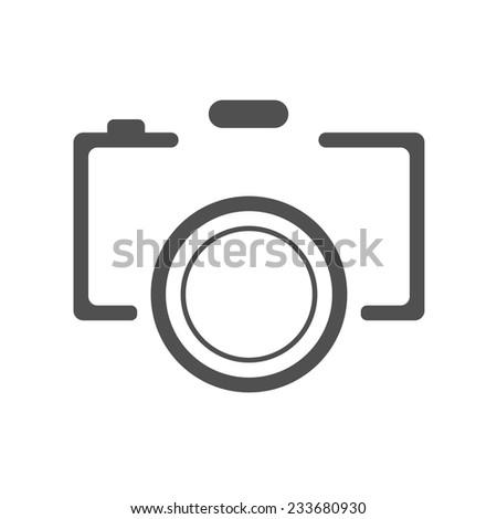 abstract black camera icon on white background. logo design vector illustration - stock vector