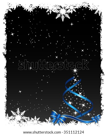 Abstract black Christmas background