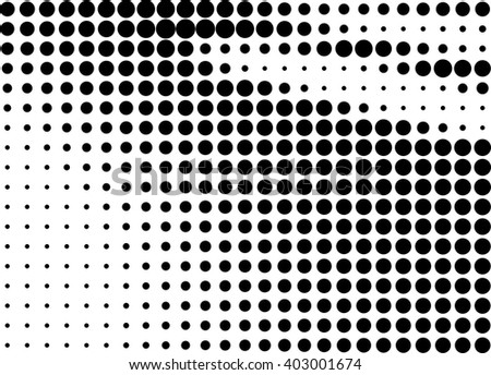 Abstract black dots halftone shaded background over white - stock vector