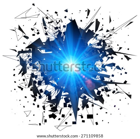 Abstract black explosion. Vector illustration. - stock vector