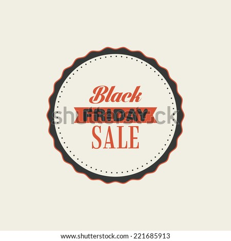 abstract black friday label on a white background