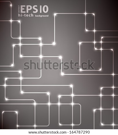 Abstract black futuristic EPS10 vector modern hi-tech glowing background illustration - stock vector