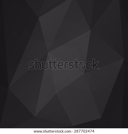 Abstract black geometric background polygonal pattern - stock vector
