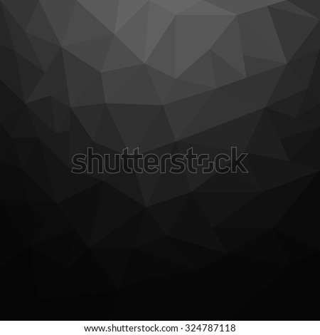 Abstract black geometric background - Vector - stock vector