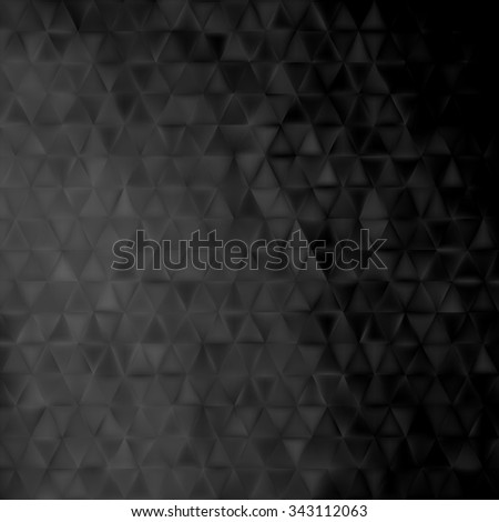 Abstract black geometrical background -  triangles