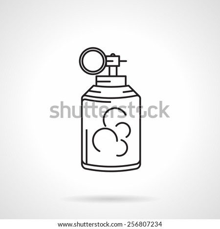 Abstract black line flat vector icon for ink or color grenade on white background. - stock vector