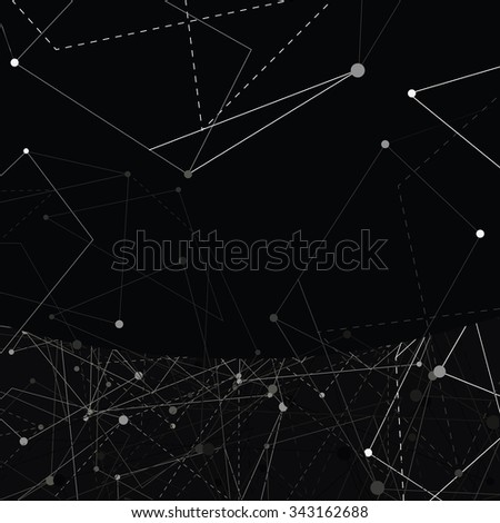 Abstract black minimalistic vector background.