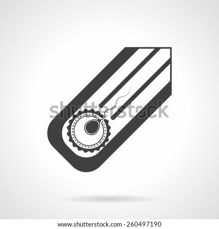 Abstract black silhouette vector icon for fertilization in vitro on white background background. - stock vector