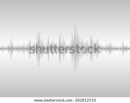 Abstract black sound waves background for parties, clubs, discos and concerts. - stock vector