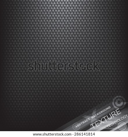 Abstract black textured background. - stock vector