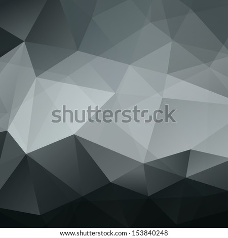 Abstract Black Triangle Geometrical Background. Pattern of Geometric Shapes. Colorful Mosaic Banner. Vector Illustration EPS10 - stock vector