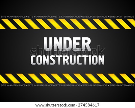 abstract black under construction background vector illustration