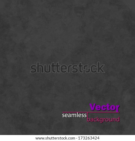 Abstract Black Vector Seamless Background with subtle grunge old paper texture. Blank monochrome elegant backdrop in shades of gray color. Dark grey soft faded tileable modern style wallpaper design - stock vector