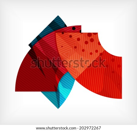 Abstract blank banner vector design template made of pieces geometric shapes