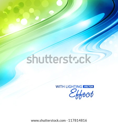 Abstract blue and green background. Vector