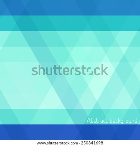 Abstract blue and green striped geometrical pattern. Vector - stock vector